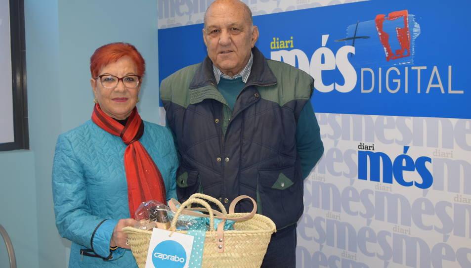 En Manel Rodríguez, amb la seva cistella.