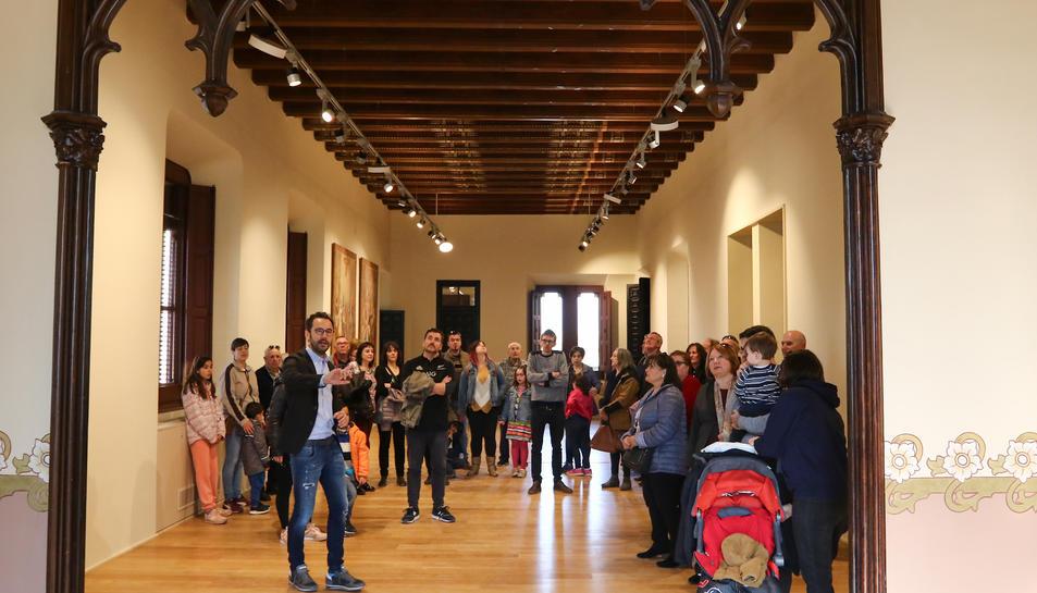 El president del Patronat de Turisme, Pere Segura, en una visita de les jornades de portes obertes.