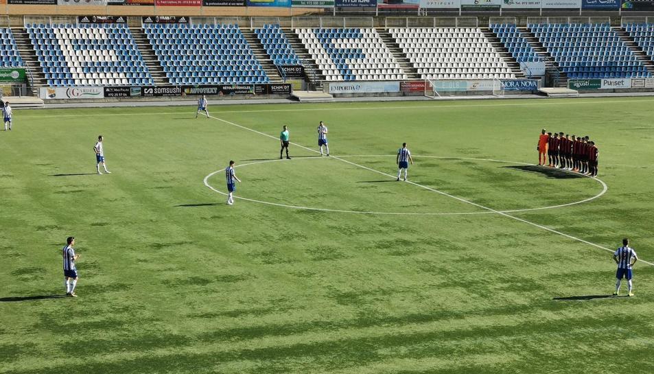 Els jugadors del Reus, fent la plantada