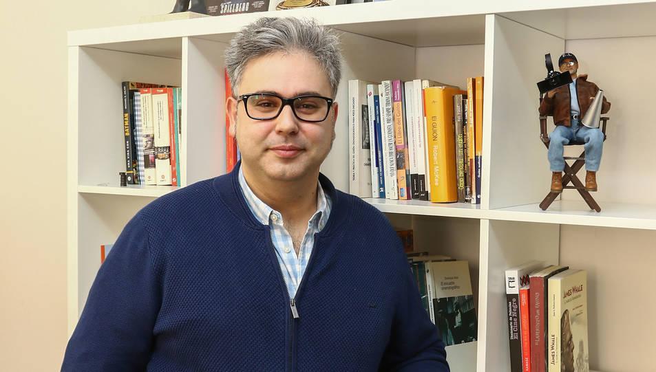Daniel Villanueva a les oficines de l'ECIR.