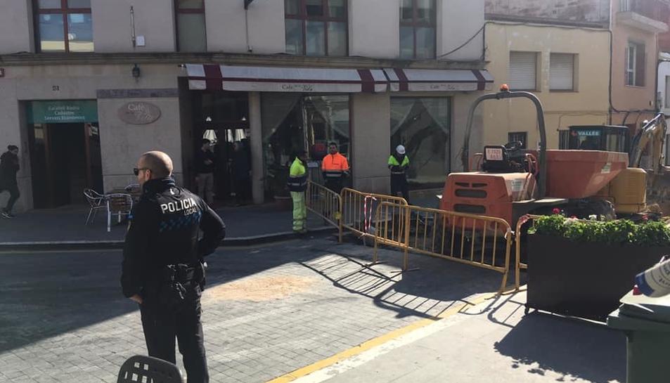 La zona ha quedat tallada a causa de l'incident.