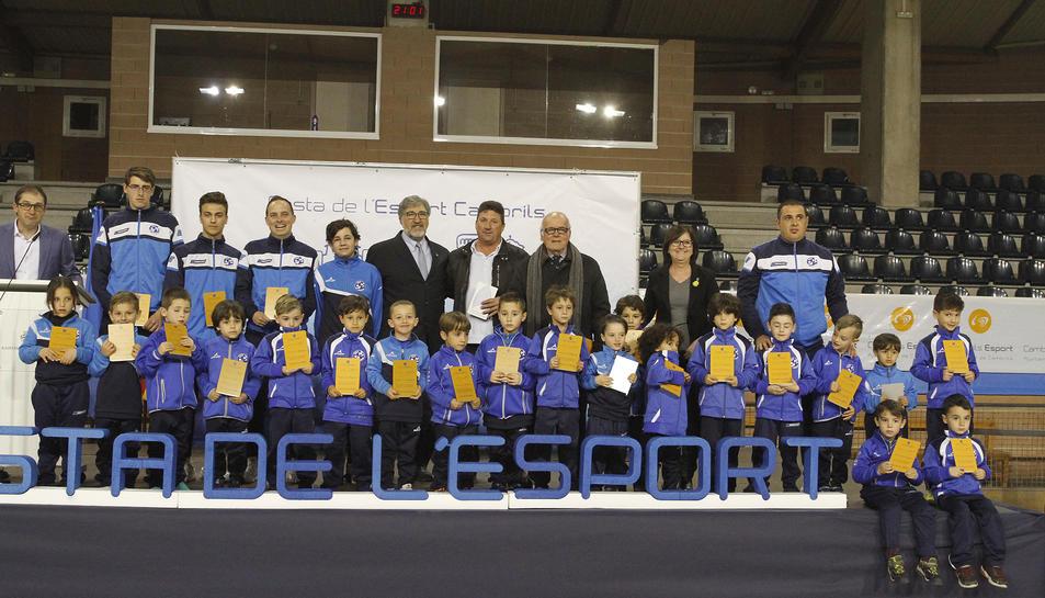Alguns dels premiats durant la Festa de l'Esport de Cambrils, celebrada divendres passat.