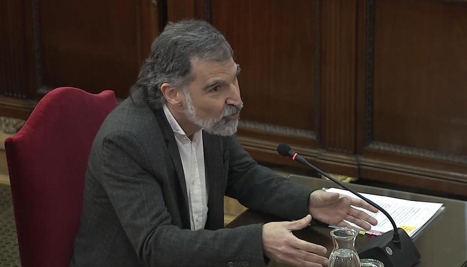 Jordi Cuixart declarant durant el judici de l'1-O.