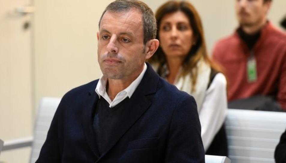 L'expresident del Barça, Sandro Rosell, al banc dels acusats al judici per blanqueig de capitals i organització criminal.