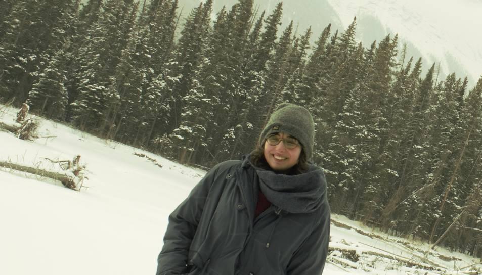 Marina Cervera gaudeix del paisatge que li ofereix el Canadà.