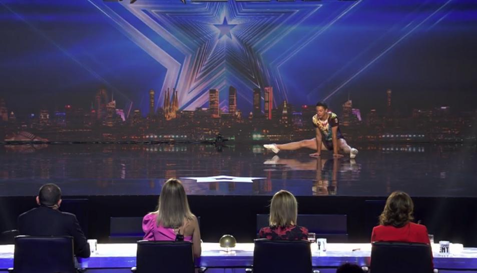 Imatge de l'actuació de Miquel Mañé a Got Talent.