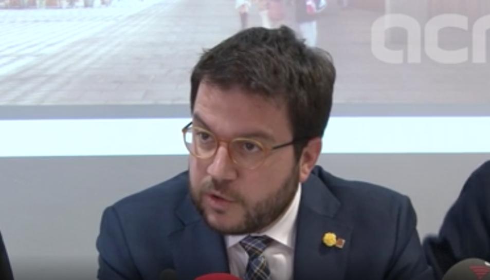 El vicepresident del Govern i conseller d'Economia, Pere Aragonès, en la seva visita a Tarragona.