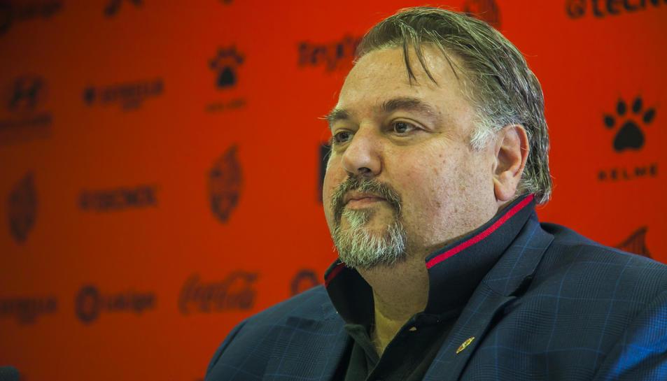 Imatge d'Onolfo durant la roda de premsa de dijous.