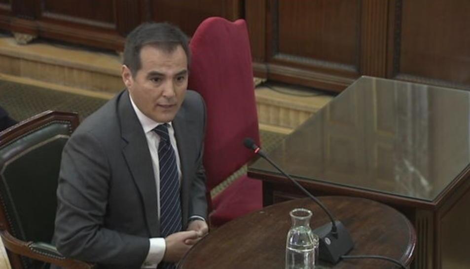 L'exsecretari d'Estat de Seguretat José Antonio Nieto, durant la compareixença al Tribunal Suprem.