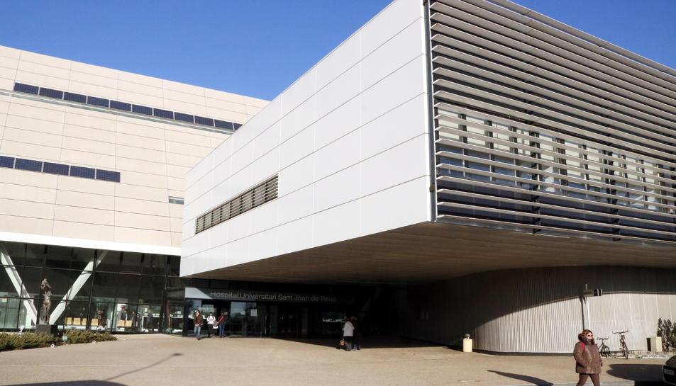 Pla general de l'accés principal a l'Hospital Sant Joan de Reus.