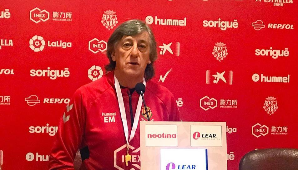 Enrique Martín durant la roda de premsa d'avui.