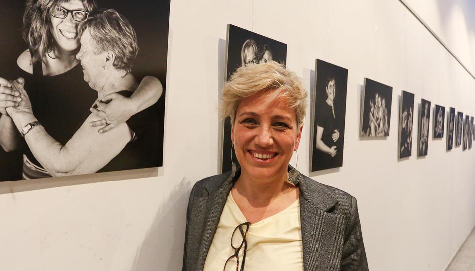 Meritxell Perpiñá el passat dijous, dia en què es va inaugurar l'exposició fotogràfica a Reus.