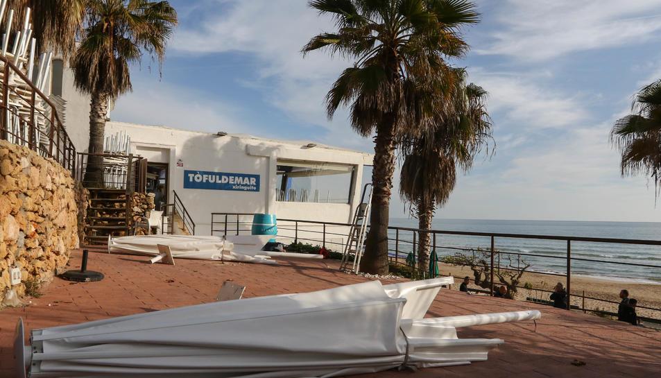 El propietari del Tòful de Mar va entregar les claus i desmuntar el restaurant el desembre passat.