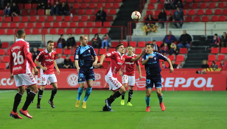 Viti, durant un moment del Nàstic-Albacete d'aquest dissabte que va acabar amb victòria local 1-0.