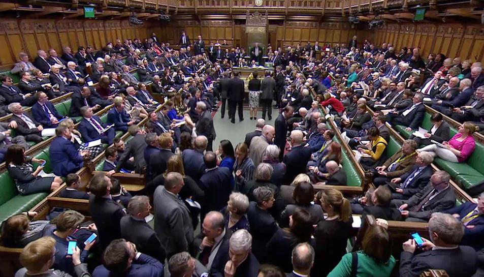 Moment de les votacions sobre el Brexit al parlament britànic.