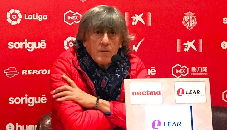 Imatge d'Enrique Martín en la roda de premsa d'aquest divendres, 15 de març.
