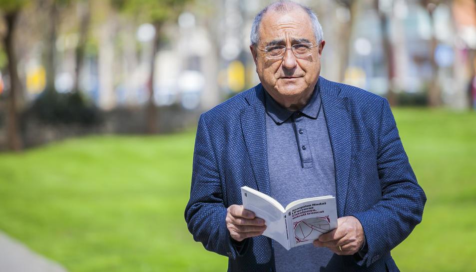 L'historiador i antic membre del PSC Joaquim Nadal, el passat dimecres a Tarragona.