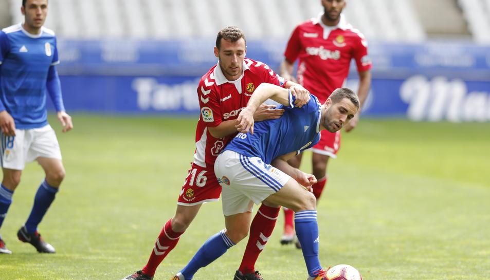 Imanol García va gaudir d'una ocasió claríssima de gol, que no va entrar pels pèls.