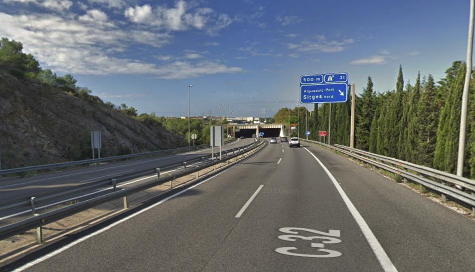 L'accident es va produir a la C-32 a Sitges.