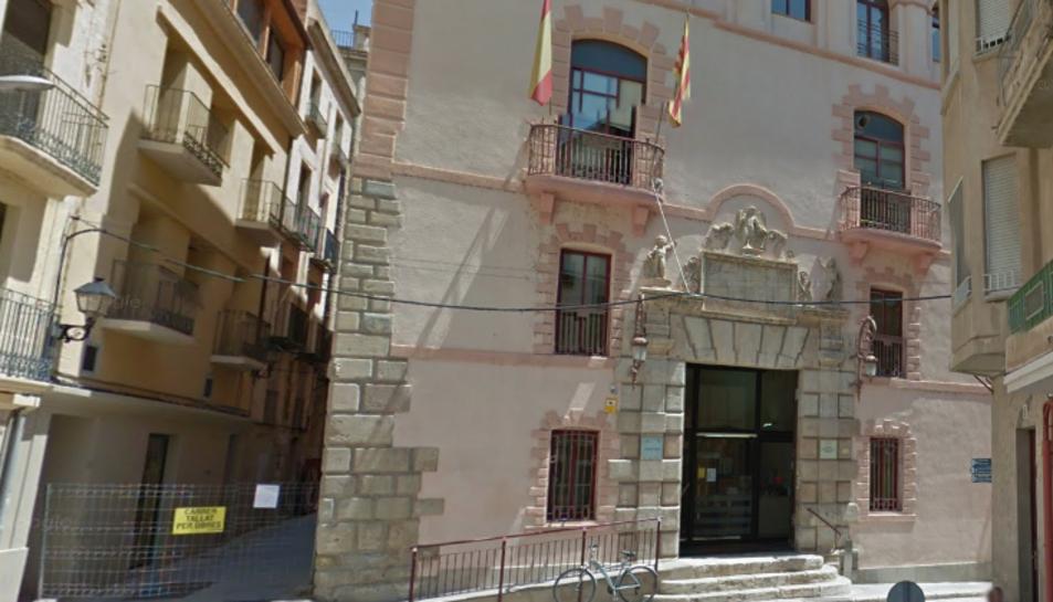 Imatge de la façana del jutjat d'instrucció número 2 de Tortosa.