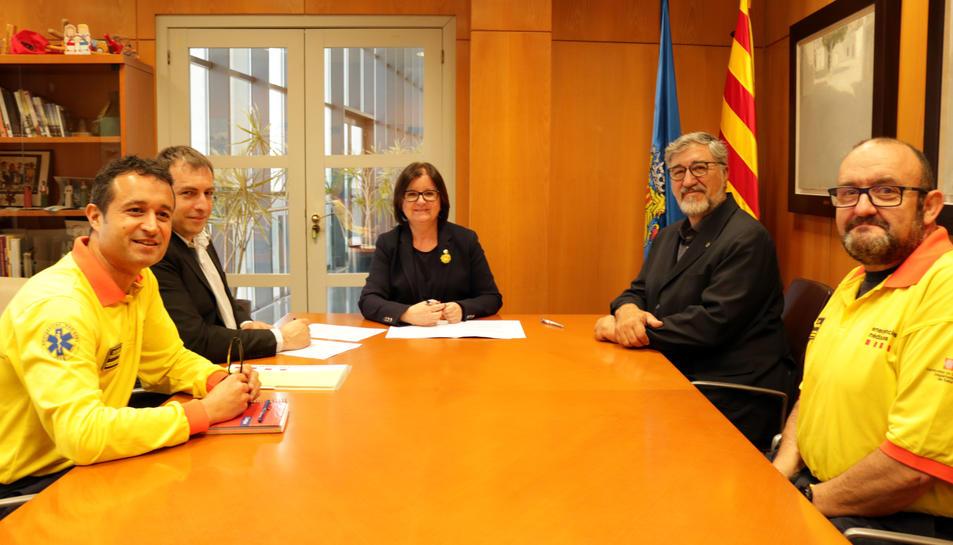 L'Ajuntament de Cambrils i el SEM han signat avui un conveni de col•laboració.