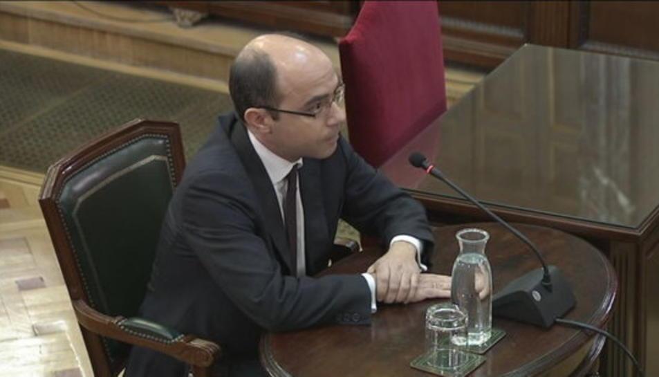 L'exnúmero 2 de Montoro a Hisenda, Felipe Martínez Rico, durant la compareixença al Suprem.