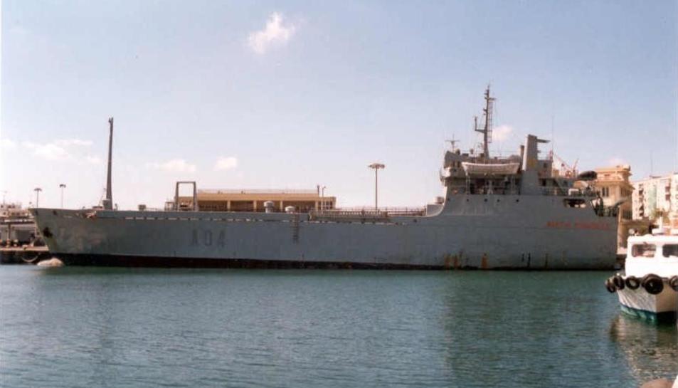 Imatge del vaixell de l'Armada Espanyola Martín Posadillo.