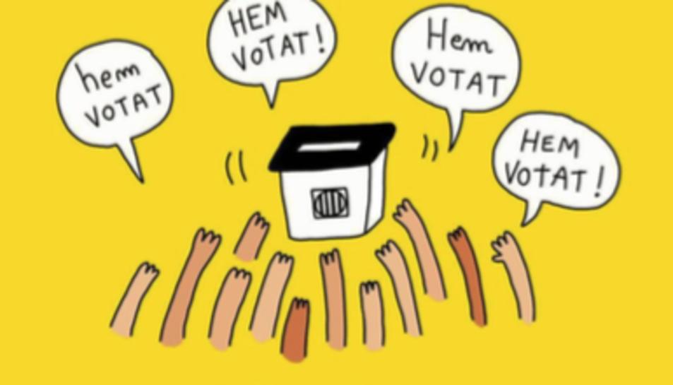 El text recull, en forma de conte, testimonis que van viure el referèndum del primer d'octubre del 2017 a la capital de la Costa Daurada.