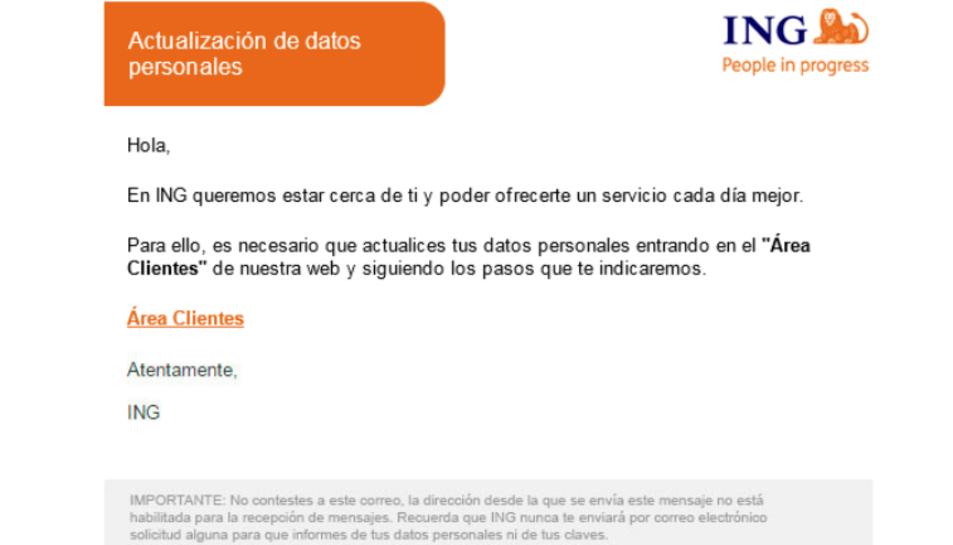 Els usuaris reben un correu electrònic fraudulent a la seva bústia.