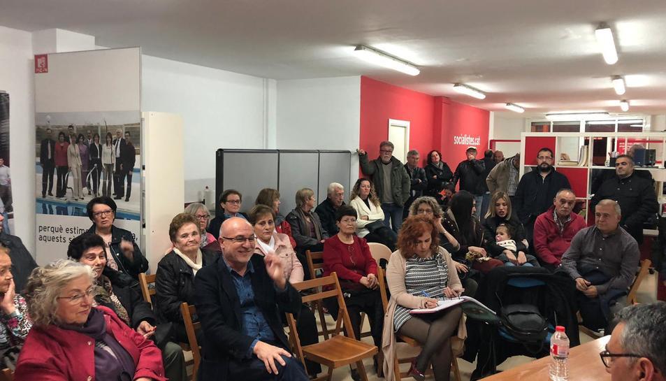 L'assemblea dels socialistes celebrada ahir.
