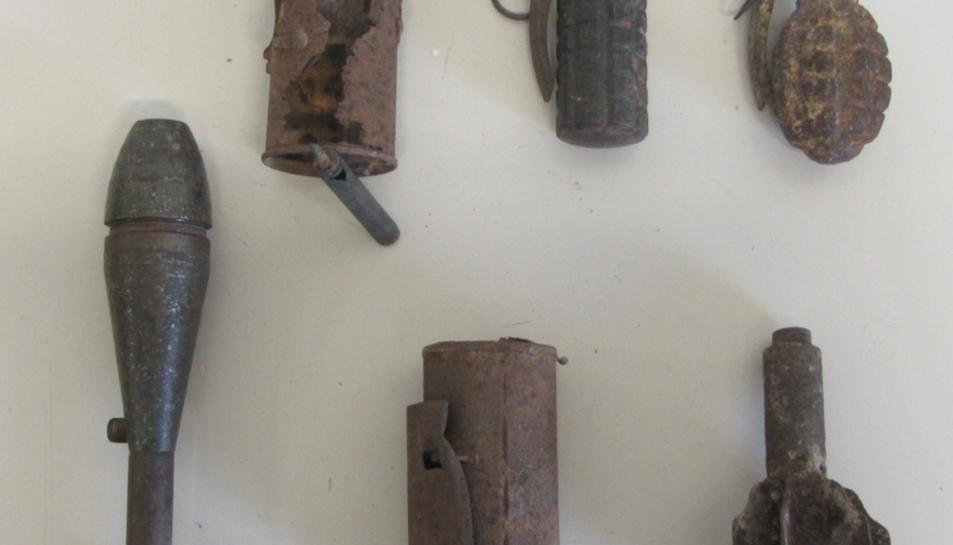 Imatge d'alguns dels artefactes intervinguts.