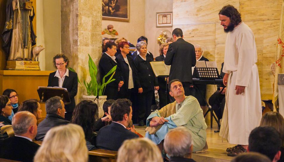 Sant Llorenç va acollir una edició especial de la Passió d'Albinyana, que el 2019 celebra 30 anys