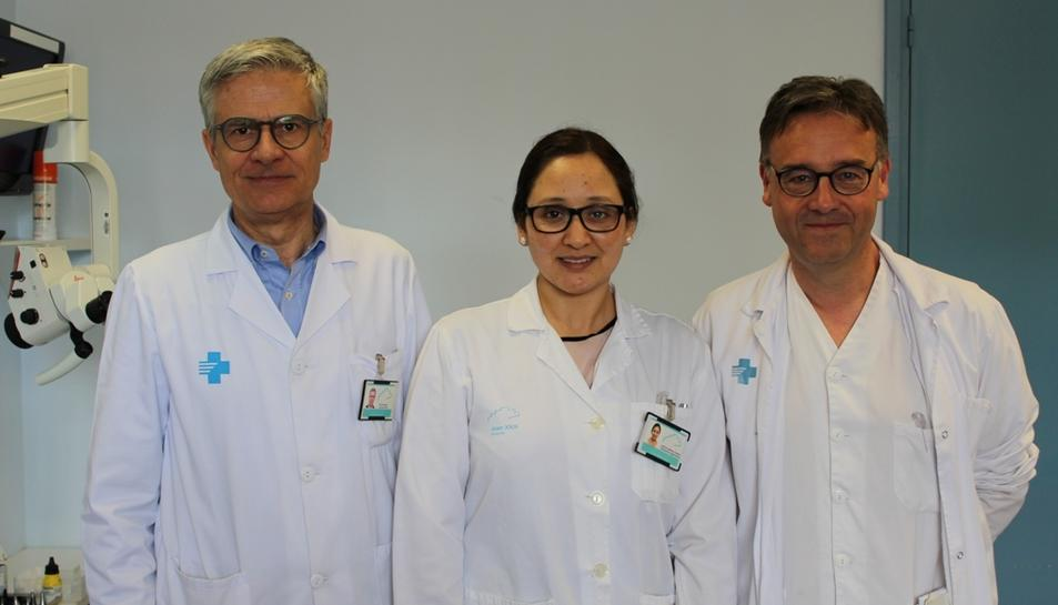 Els doctors Flores, Merma i Figuerola.