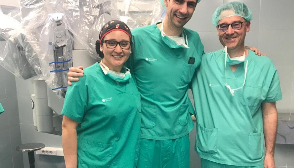 Els doctores Flores, Merma i Viros.