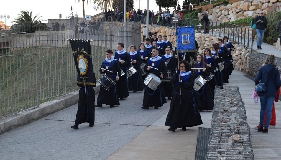 El Gremi de Marejants arribant a l'Amfiteatre de Tarragona.