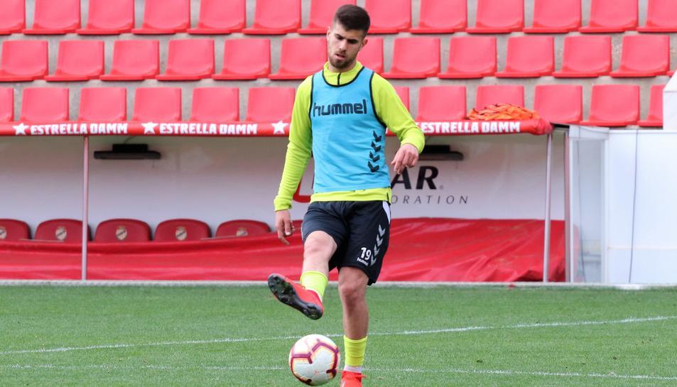 Ramiro Guerra, durant un entrenament