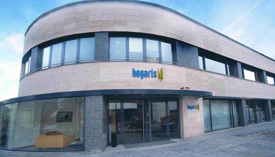 Edifici de la seu de l'empresa Bogaris a Sevilla (Andalusia), a l'illa de la Cartuja.