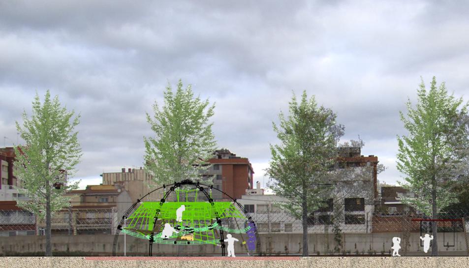 Una recreació de l'aspecte que tindrà l'estructura un cop estigui col·locada al lloc.