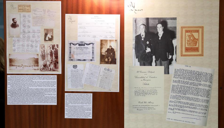Elements del fons documental dipositat per la família Yxart a l'Arxiu Històric de Tarragona.