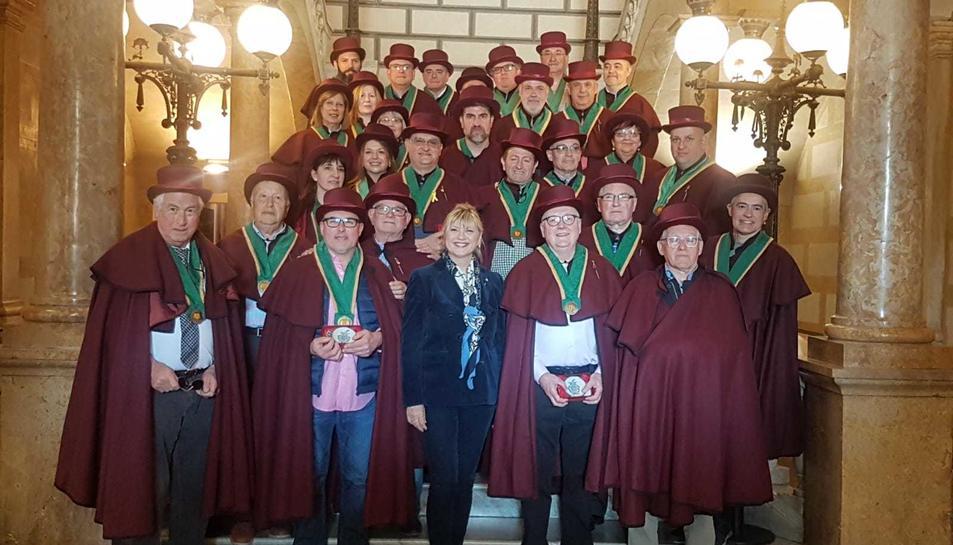 El president del Gremi de Carnissers, Cansaladers i Xarcuters de les Comarques de Tarragona, Vicens Bardolet, va ser l'organitzador i amfitrió, juntament amb la consellera de Comerç i presidenta d'ESPIMSA, Elvira Ferrando.
