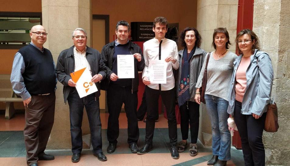 El grup municipal de Ciutadans ha presentat la denuncia aquest dilluns, 25 de març.