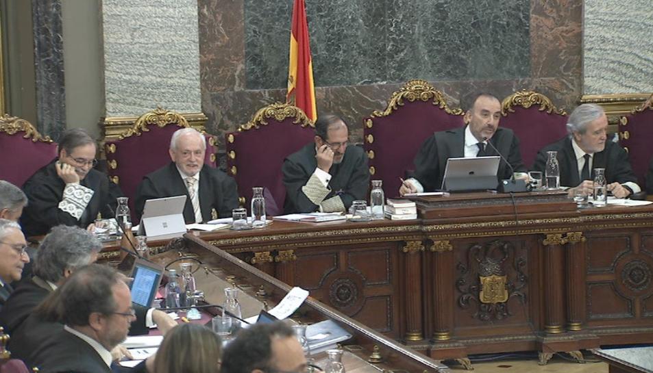 Imatge del tribunal del judici de l'1-O, el 21 de març del 2019.
