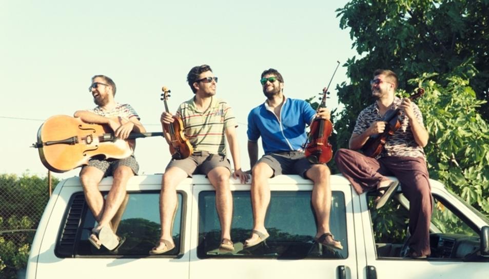 Imatge promocional dels Aupa Quartet.