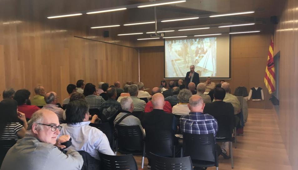 Imatge de l'assemblea de trabucaires a la Pineda.