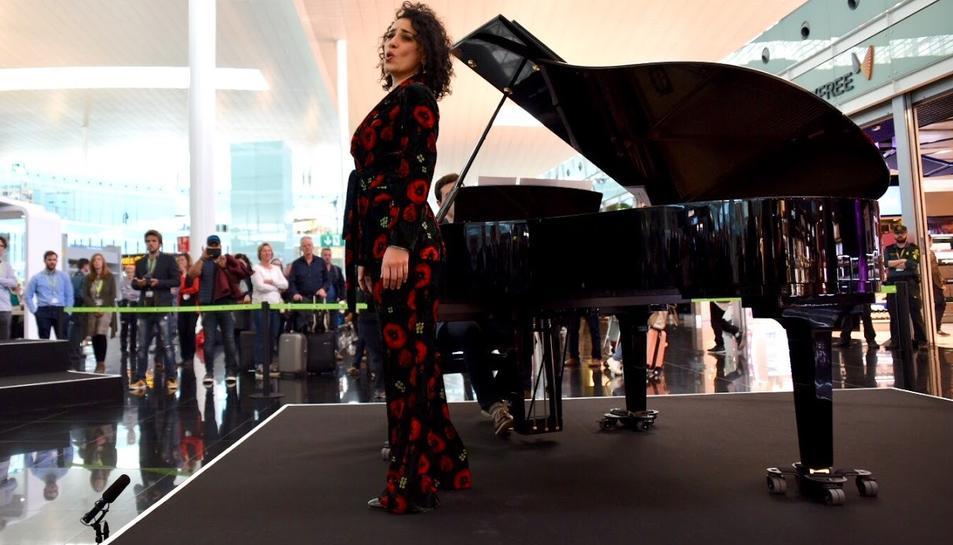 L'acte de presentació del conveni s'ha fet a l'Aeroport de Barcelona.