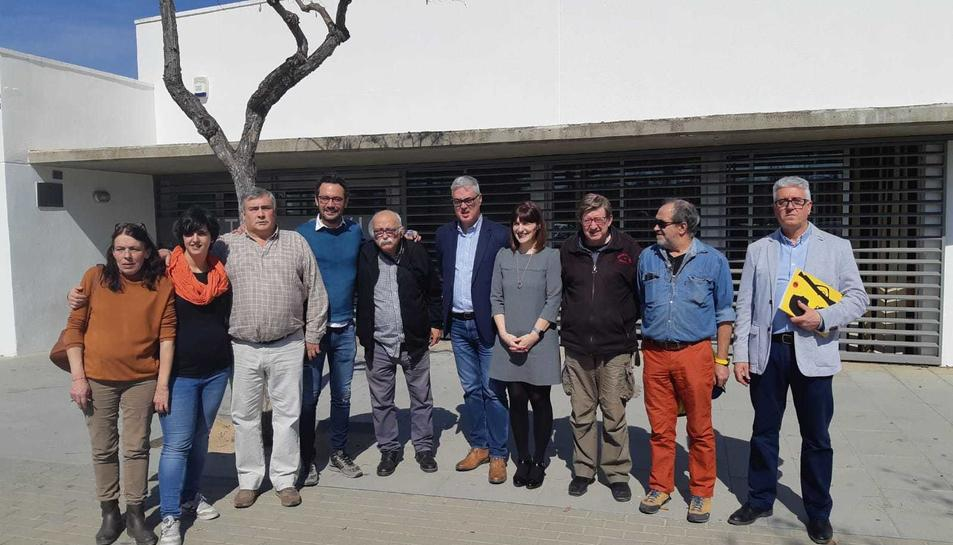 Imatge dels membres de la junta i Trabucaires en Comú.