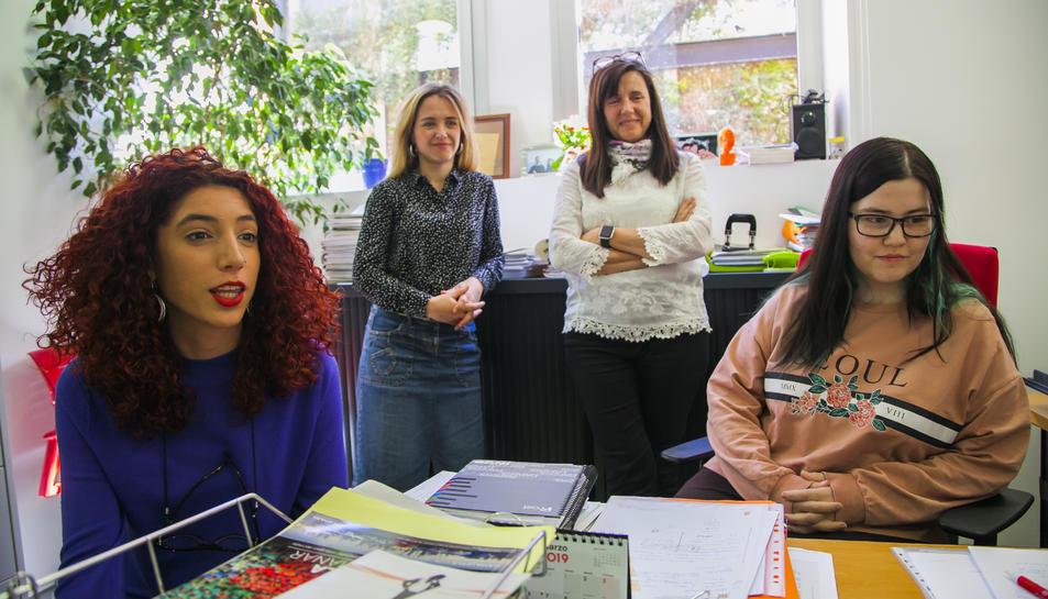 D'esquerra a dreta, Saray Colomer, Montse Martorell, Aurora de la Torre i Andrea Neves.