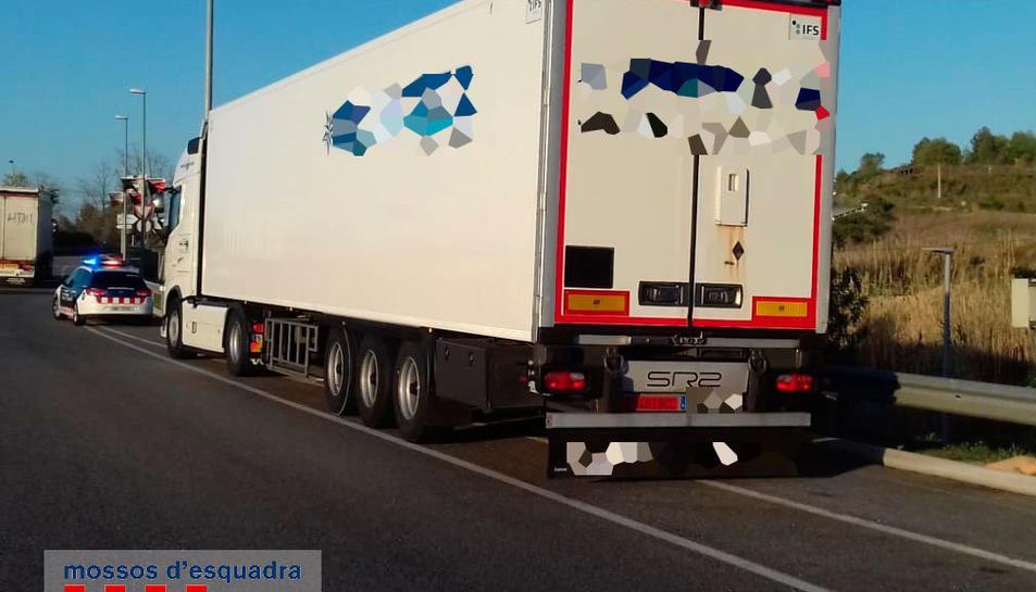 El camió que conduïa el detingut