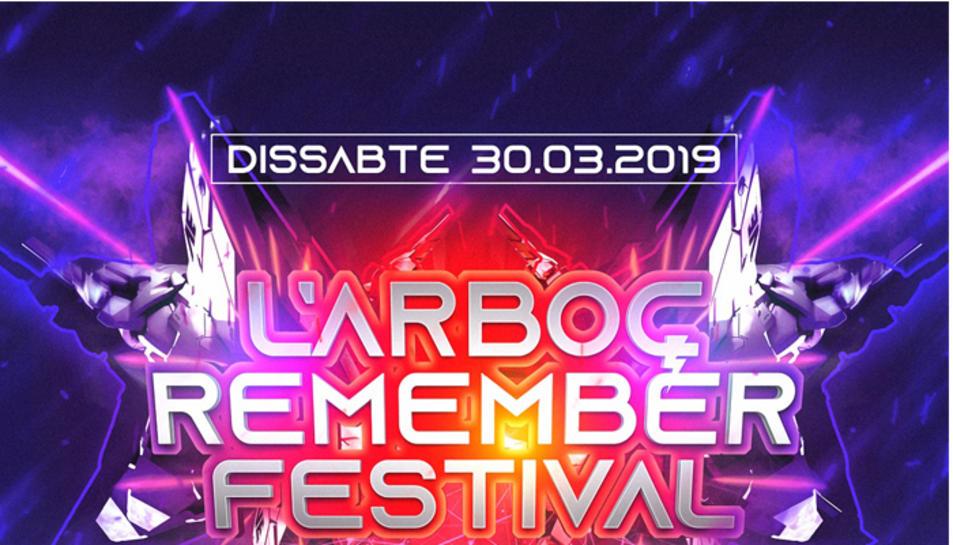 Cartell del L'Arboç Remember Festival.