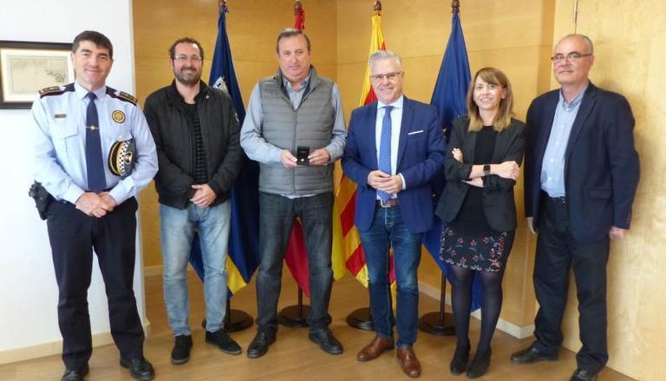 Imatge de l'acte de reconeixement a Joan Montalà.